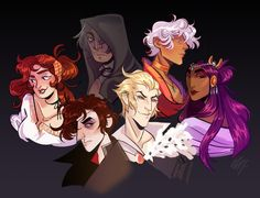 """chocodi: """" Here are some fine DramaQueens™ I made for @danarune of The Arcana characters!! If you haven't already, pls check out The Arcana game, it's seriously amazing and the art is out of this..."""