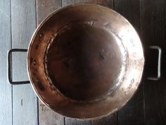 Antique French Large Copper Saucepan Pot Cooking Kitchen Caramel Hanging Display circa 1900's Purchase in store here http://www.europeanvintageemporium.com/product/antique-french-large-copper-saucepan-pot-cooking-kitchen-caramel-hanging-display-circa-1900s/