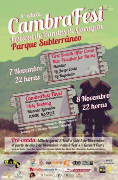CambraFest | Final > 7 e 8 Nov 2014 @ Parque Subterrâneo, Praça Comendador Álvaro Pinho da Costa Leite, Vale de Cambra  #ValeDeCambra