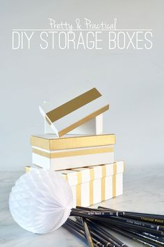 Pretty and Practical Storage Box DIY