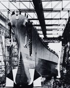 The launching of the Black Dragon battleship New Jersey,on the first anniversary of Pearl Harbor