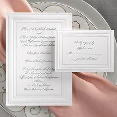 Traditional Wedding Invitations, Personalised Wedding Invitations, Letterpress Wedding Invitations, Elegant Invitations, Wedding Invitation Design, Personalized Wedding, White Wedding Decorations, Wedding Ideas, Wedding App