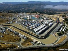 The Mazda Raceway Laguna Seca near Monterey is famous for the many races that take place each year.