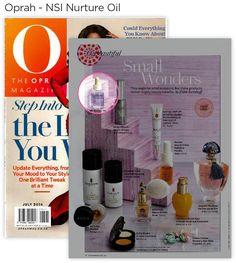 NSI Nurture Oil in the Oprah Magazine. Beauty Industry, Oprah, New Art, Oil, Magazine, News, Magazines