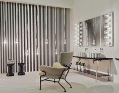 Make Up 2011 – lampade e panche / lamps and console – P. Home Interior, Interior Design, My Mirror, Mirrors, Bathroom Furniture, Architecture Design, Make Up, Table, Console