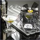 1940s theme wedding candle, martini candle favor