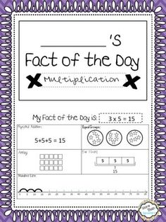 Multiplication Strategies Mini Book for daily practice with repeated addition, arrays, bar models, equal groups, number lines, commutative property, skip counting and word problems.