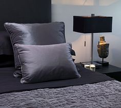luxurious grey contemporary bedroom - Kianfar Revell Interior Design Modern Interior, Interior Architecture, Interior Design, Contemporary Bedroom, Modern Contemporary, Charcoal Bedroom, Closets, Accent Decor, Anatomy