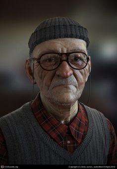Title: Balkan Retiree  Name: Anto Juricic  Country: Bosnia and Herzegovina  Software: Maya, ZBrush