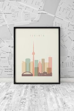 Hey, I found this really awesome Etsy listing at https://www.etsy.com/listing/214388060/toronto-art-print-printable-poster-wall