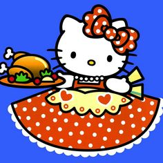 Hello Hostess #HelloKitty #kitty #obsessed #hostess #thanksgiving #meal #turkey #dinner #holiday #cook #mom #cute