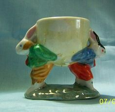 Egg Cup Bunny Rabitt Made in Japan Vintage
