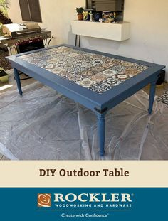 Outdoor Table Legs come unfinished, allowing you to either paint or stain them to match your project. Outdoor Table Legs come unfinished, allowing you to either paint or stain them to match your project. Diy Outdoor Table, Diy Outdoor Furniture, Pallet Furniture, Furniture Makeover, Painted Furniture, Rustic Furniture, Outdoor Paint, Furniture Layout, Azulejos Diy