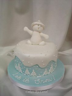 Let it Snow - Christmas Cake ~ adorable!!