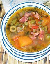 Sopa de gandules con jamon...El Boricua, a bilingual , cultural publication for Puerto Ricans