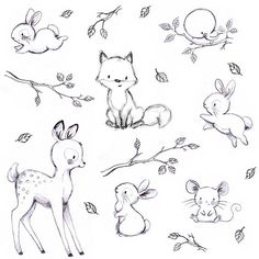 Easy drawings of cute animals cute easy animals to draw best cute baby animal sketches cute . easy drawings of cute animals Cute Sketches, Drawing Sketches, Bunny Sketches, Drawing Ideas, Drawing Poses, Drawing Lessons, Pencil Drawings, Easy Animals, Cute Baby Animals