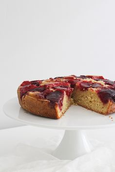 Upside Down Plum Cake | Made From Scratch