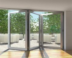 A Model we stock the SCHÜCO ASS 80 FD.HI, For your free quote on your own set of Bi-folding doors please visit www.csggroup.co.uk