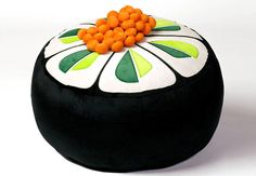Sushi Style Cucumber Pouf Floor Cushion