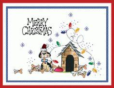 Christmas Doghouse Card