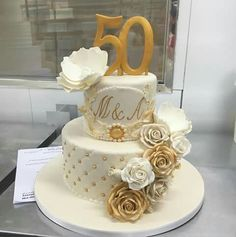 Cake 50 Anos Golden Birthday Cakes 50th For Women Decorations