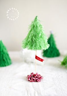 """DAY 1   Piñata Tree Ornaments Happy December.Welcome to Day 1 in """"The Creative Collective Sweden's: 24 Days of Creativity Calendar."""" The guests and the entire month have me see…"""