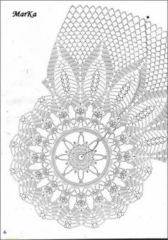 Crochet Doily Diagram, Crochet Stitches Patterns, Thread Crochet, Crochet Motif, Crochet Shawl, Crochet Hooks, Stitch Patterns, Crochet Coaster, Lace Doilies