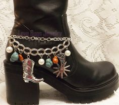 Red & Turquoise Boot Jewelry Boot Bracelet Boot by LoveBugsJewelry, $19.99 Boot Bling, Cowgirl Bling, Cowgirl Boots, Boot Jewelry, Cowgirl Jewelry, Jewlery, Turquoise Boots, Red Turquoise, Boot Bracelet