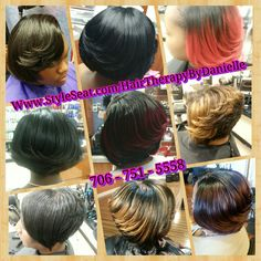 """""""HairTherapy by Danielle"""" (Salon & Extensions)   Licensed since 2003  Phone: 706 751 5558  Website: Www.StyleSeat.com/HairTherapyByDanielle   Email: HairTherapyByDanielle@gmail.com  Go like my Facebook page: Www.facebook.com/HairTherapyByDanielle   Go follow me on Instagram:  @HairTherapyByDanielle   Go follow me on Snapchat: Hair_therapy  #HairTherapy  #HairTherapyByDanielle #AugustaHair  #GeorgiaHair  #HealthyHair  #AllAboutHair #BoutThatHairLife"""