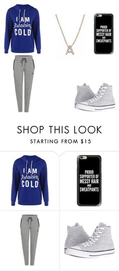 """""""so cold"""" by babygirl2002-2003 ❤ liked on Polyvore featuring Casetify, NIKE, Converse and Bony Levy"""