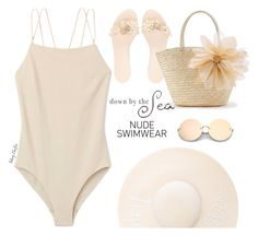 Including Every Shade of Nude by mcheffer on Polyvore featuring polyvore, fashion, style, WithChic, Eugenia Kim, Pangea, clothing and nudeswimwear