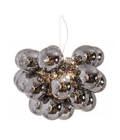 Gross Grande is a larger model of By Rydén's ceiling lamp Gross. 32 delicate glass spheres and 8 light sources gives a wonderful light. Ceiling Lamp, Ceiling Lights, Cluster, Royal Design, Glass Ball, Spotlights, Chrome Plating, Beautiful Lights, Lamp Light