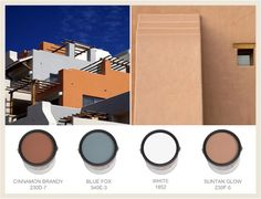 Colorfully, BEHR :: Southwestern Style: Adobe Homes Best Exterior Paint, Exterior Paint Colors For House, Paint Colors For Home, Exterior Colors, Paint Colours, Soft Colors, Adobe Haus, Hacienda Homes, Southwestern Decorating