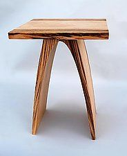 Wood End Table by Kerry Vesper