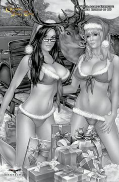Cover for Grimm Fairy Tales (Zenescope Entertainment, January 2013) #81 [Willsbargains Exclusive Black & White Variant by Monte Moore]