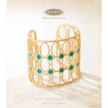 Wide Cartouche Cuff (Turquoise)