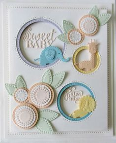 Sue Wilson Designs - Die - Finishing Touches Collection - Stitched Doodle Flowers-Set of 7 dies. Baby Girl Cards, New Baby Cards, Flower Doodles, Doodle Flowers, Baby Shower Cards, Creative Cards, Creative Play, Kids Cards, Cute Cards