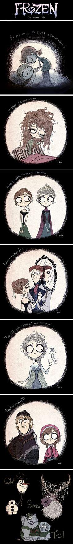 Frozen, Tim Burton style.