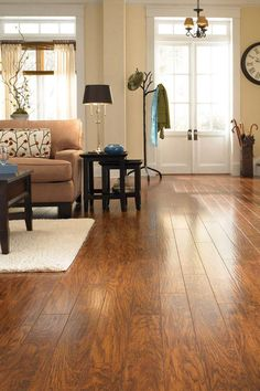 Pergo XP laminate flooring has an ultra-realistic wood grain finish, along with a protective finish, for double the wear and double the durability. It's easy to install, too.