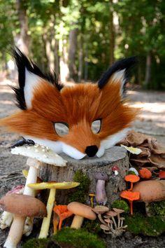 Fox fur Halloween mask at Spirit Parade