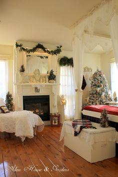 Aiken House & Gardens: Our Christmas Bedroom