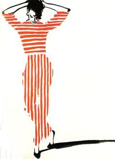 Cover illustration for International Textiles, 1954