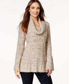 Style & Co. Cable-Knit Cowl-Neck Tunic Sweater, Only at Macy's
