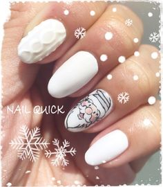 42 Best Christmas Nail Images On Pinterest クリスマスネイル