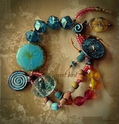 "Boho Whimsy ""SweetBird"" Bracelet by Toni McCarthy 2014"