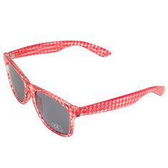 Vans red gingham sunglases   I must find them!.. fun touch for picutres ;)