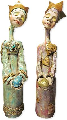 Cloutman  bottle dolls by Cynthia Tinapple