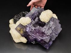 very big Fluorite and Baryte from Elmwood mine, Tennessee, USA (collection privèe)