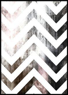 Affisch med chevron mönster från Akvarell.
