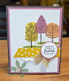 Stampin' Up! Totally Trees for Fall  #SUthailand #stampinup #thailandachieversbloghop